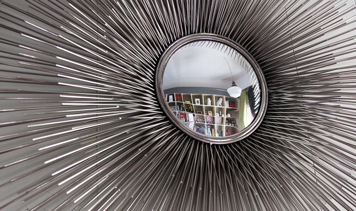 Starburst 3D mirror, nickel silver
