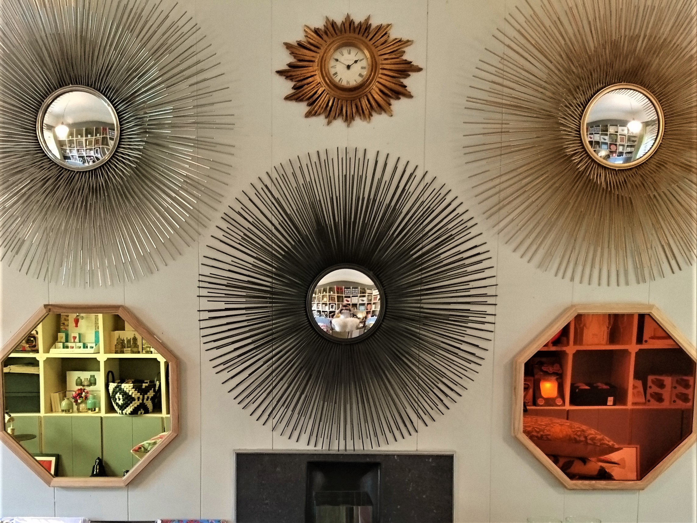 Starburst mirrors shining at The Old Mill Stores