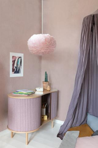 lampshade goose feather, pale rose pink