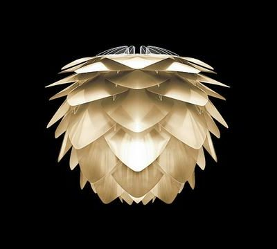 Silvia brushed brass lampshade for table or floor lamp and as ceiling pendant.