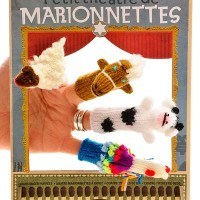 Marionettes finger puppet theatre with 4 farmyard animals