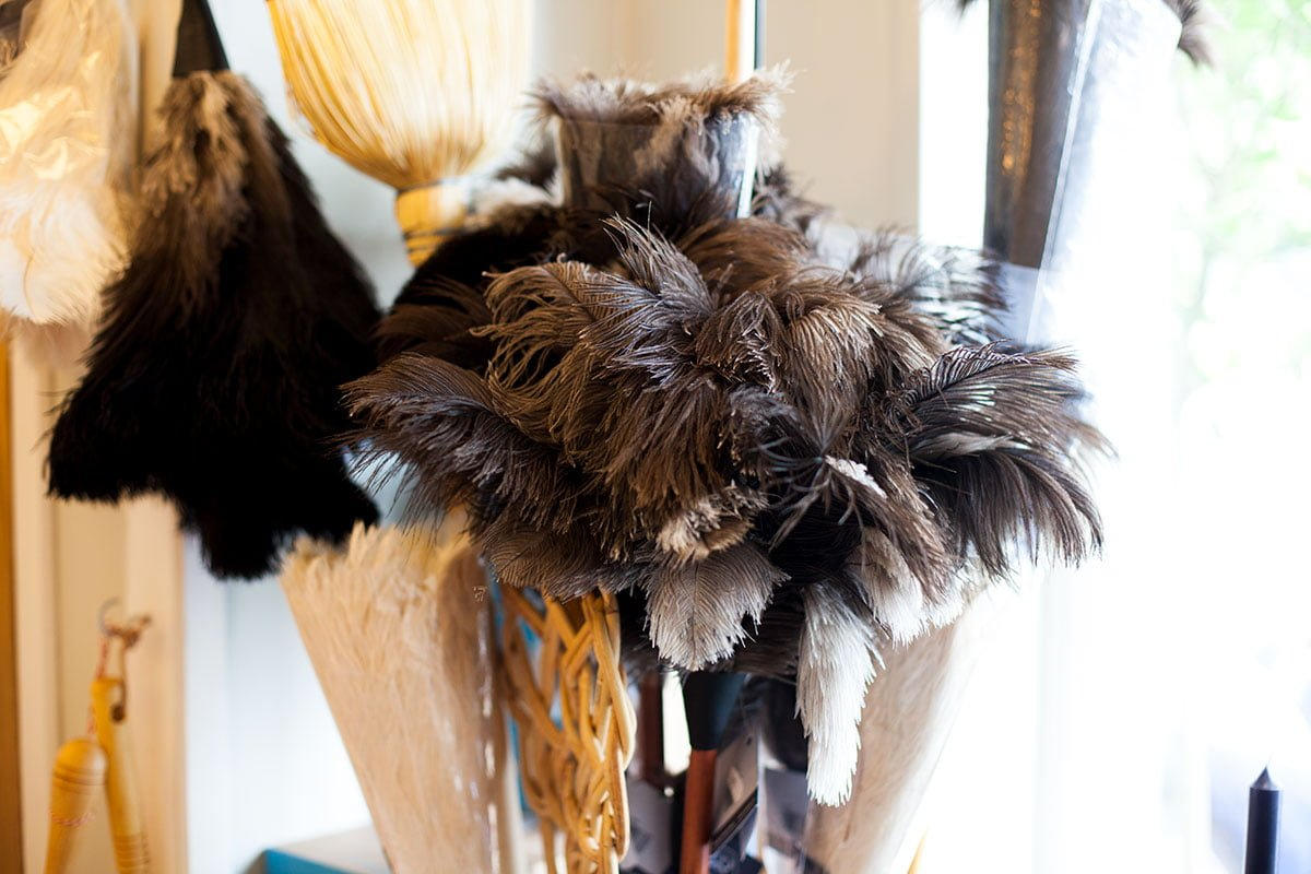 Ostrich feather dusters