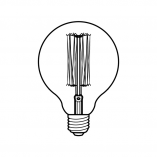 Edgar dimmable spherical decorative lightbulb