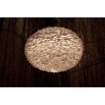 Danish lampshade in natural beige brown goose feather