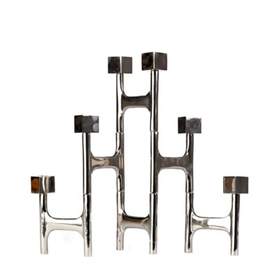 folding candle holder, nickel square