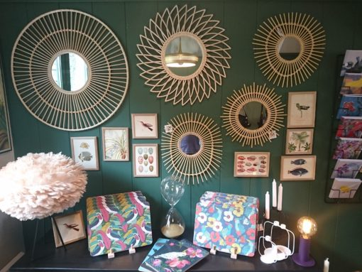 Rattan and Bamboo Mirror Collection