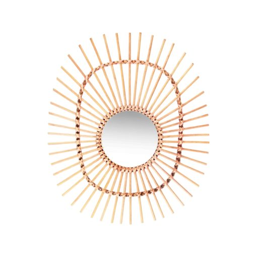 Rattan and Bamboo mirror collection Oval