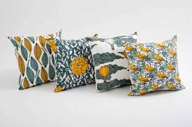 Not so mellow yellow range of tropical cushions