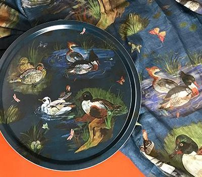 Serving tray - Ducks in the Creek design