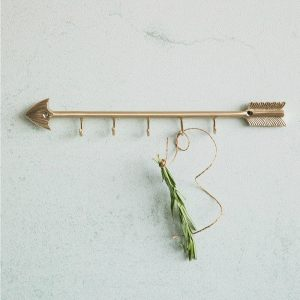 brass_arrow_wall_hanger_with_5 hooks