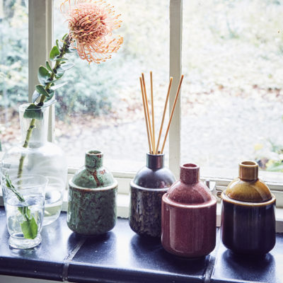 Collection of ceramic scented oil diffusers
