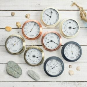 tide clock, barometer, thermometer and lots more