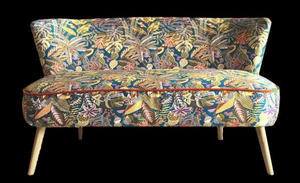 sofa, seat, compact, jacquard fabric