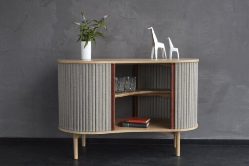 Audacious cabinet, sideboard , Danish design, retro kidney shape, Umage