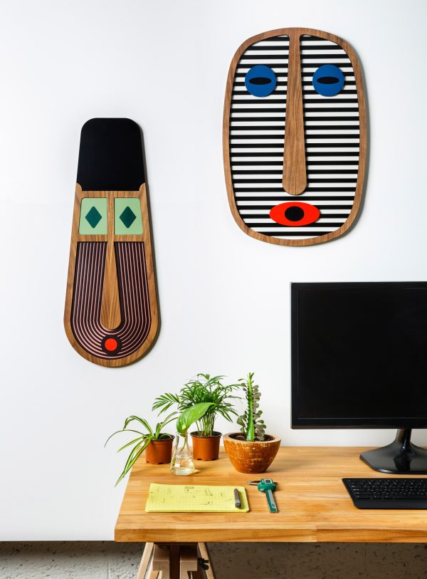 Our range of 5 Tribal-inspired wall masks - The Modern African collection - is a contemporary take take on the age-old tradition of the african mask as decorative object and the inherent magical qualities bestowed on them.