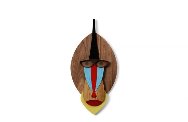 Mandrill monkey Our range of 5 Tribal-inspired wall masks - The Modern African collection - is a contemporary take take on the age-old tradition of the african mask as decorative object and the inherent magical qualities bestowed on them.