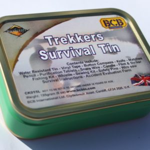 trekkers and hill walking mountain survival kit in a tin