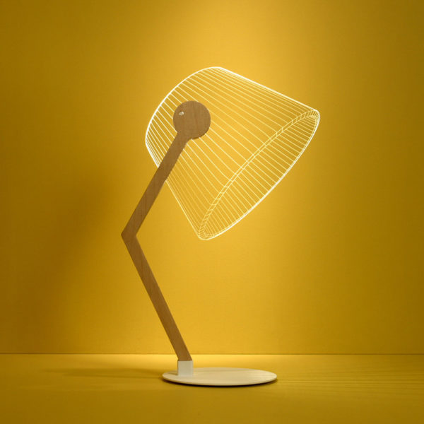 Meet ZIGGi - magic 3-D LED table lamp