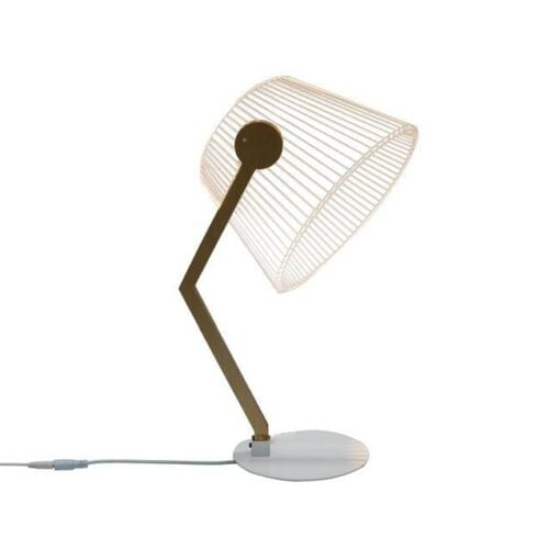 3-D, 3-dimensional LED table lamp with acrylic lampshade, and dimmer switch, USB or plug-in