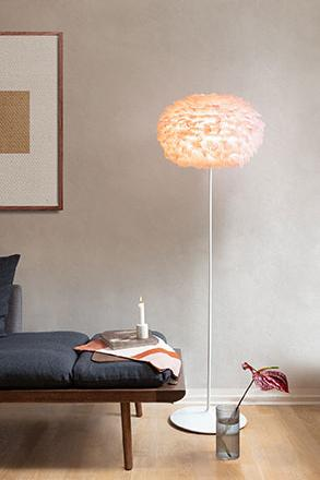 pale rose feather lampshade from Denmark