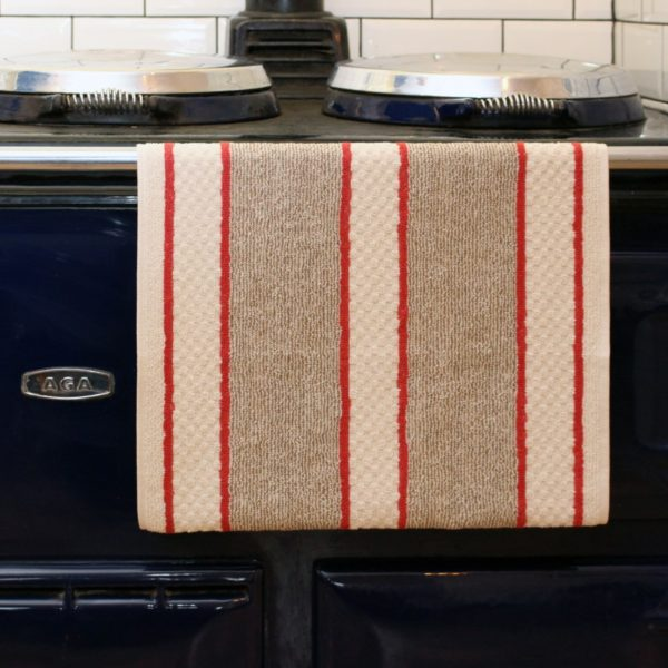 Aga range cooker continuous pop fastened roller towel
